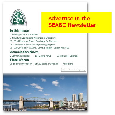 Advertise in the SEABC Newsletter